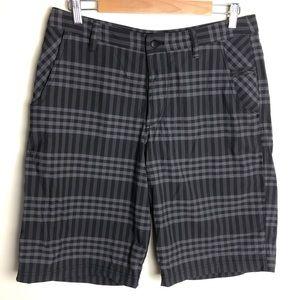 Lululemon men's grey plaid kahuna shorts